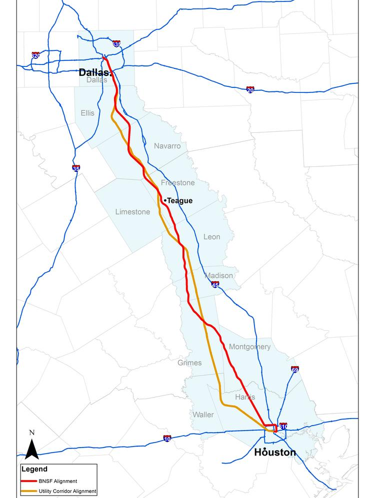 LAN Consulting Firm Chosen For Bullet Train Station Study In - Texas high speed rail map